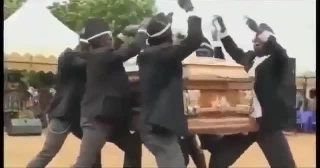 Gana'daki müzikli danslı cenaze töreni