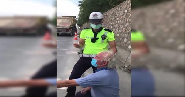İşte Türk Polisi... Tır şoförünün damlasını damlattı