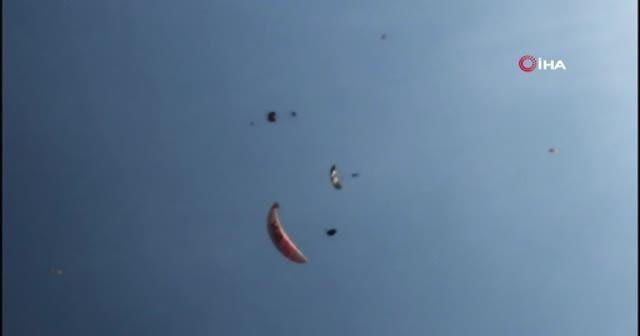 Paraşüt kazası kamerada