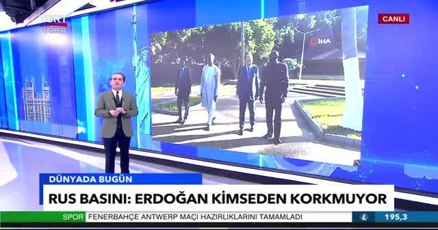 Rus basınında Cumhurbaşkanı Erdoğan'ın sözleri yer aldı: Kimseden korkmuyor