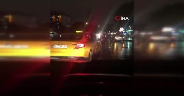 Taksici terörü kameraya yansıdı